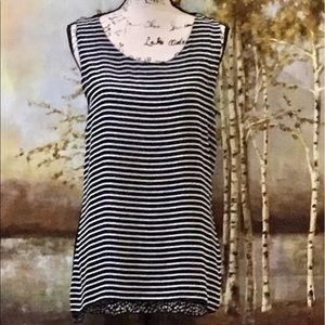 EUC VALERIE BERTINELLI Striped Top